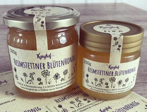 Unsere neuen Honigetiketten